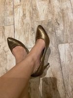 Used Paprika Gold Heels in Dubai, UAE