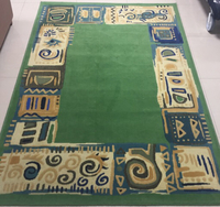 Used Carpet size 230 x 160 cms Green abstract in Dubai, UAE