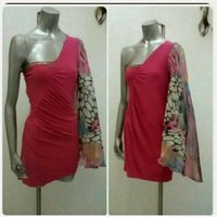 Used New pink Italian Short dress for Lady. in Dubai, UAE