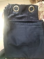 Used Pair of 2 set of curtain dark blue  full in Dubai, UAE