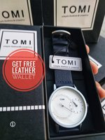 Used Original TOMI Watch: +🆓️ Leather Wallet in Dubai, UAE