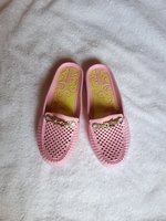 Cute pink open shoes flat