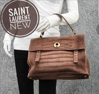Used YSL suede bag in Tan in Dubai, UAE