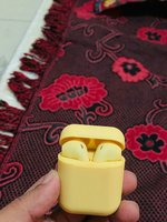 Yellow color wireless airpods