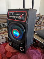 Used Powerful loud speaker with trolly in Dubai, UAE