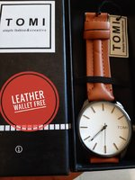 Used Original TOMI Watch♤️ Leather Wallet in Dubai, UAE