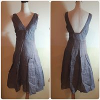 Used Grey knee length dress Italian brand in Dubai, UAE