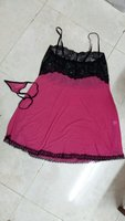 Used Sexy pink and black night gown. in Dubai, UAE