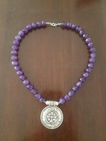 Used Amethyst pure necklace with 925 silver in Dubai, UAE