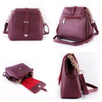 Used Elegant maroon crossbody ladies bag in Dubai, UAE