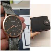 Used Original TOMI Watch♡ 🆓️ Leather Wallet in Dubai, UAE
