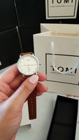 Used Original TOMI Leather Watch》Box&Bag_73 in Dubai, UAE