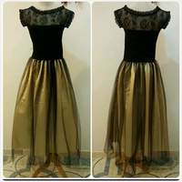 Used New golden Black Stylish Dress in Dubai, UAE