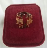 Used Butterfly and flower open ring rose gold in Dubai, UAE