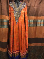 Used Party gown crystal full length  in Dubai, UAE