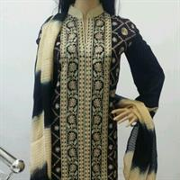 Used Brand New Designer Pakistan Suit (lawn fabric) with palazzo and dupatta in Dubai, UAE