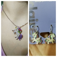Pony styly necklace and earing