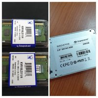 Used Transcend 256GB SSD and 2x4GB DDR3 RAM in Dubai, UAE