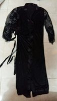 Used Sexy Black Long Sleeve Night Gown.. in Dubai, UAE