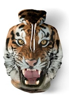 Used 3D tiger printed Unisex Hoodie size L in Dubai, UAE