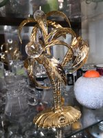 24 crt gold plated palmtree with crystal