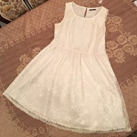Used White Net/Lace Dress in Dubai, UAE
