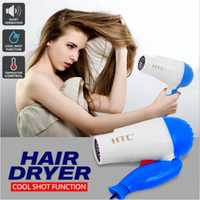 Used HTC Foldable hair dryer blue color in Dubai, UAE