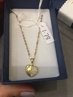 18k real gold necklace chain and pendant