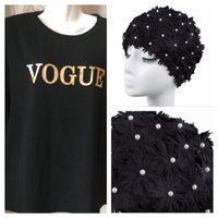 Used Swim cap and VOGUE T-Shirt 4XL 🎁 in Dubai, UAE