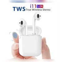 New i11dual earpods with charging pocket