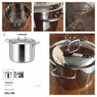 Used 10 liter stainless steel pot & lid new in Dubai, UAE