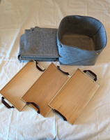Used Bundle deal - felt baskets and trays in Dubai, UAE