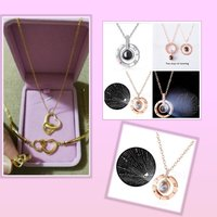 Used New golden accessories heart set + 🎁 in Dubai, UAE