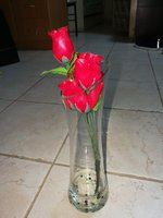 Used Stylish glass flower vase in Dubai, UAE