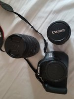 Canon 600D with lens and samsonite bag