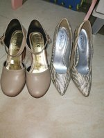 Used Women shoes 2 pc original leather party. in Dubai, UAE