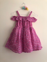 Used Girls Pink Cold Shoulder Dress 7-8yrs in Dubai, UAE