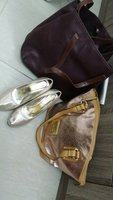 Used Two New Women bags and 1 used once shoes in Dubai, UAE
