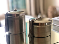 Used Set of 2 scented candles, metal case in Dubai, UAE