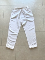Used OYSHO White Linen Trousers Size S in Dubai, UAE