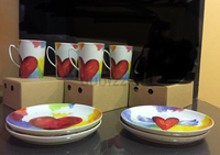 4 cups 4 plates perfect couple  set