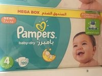 Used Pampers size 4 120pcs 90dhs in Dubai, UAE