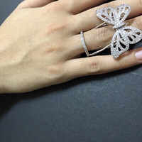 Movable Butterfly 曆 ring adjustable