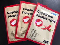 Used 24 pcs of capsicum plaster - pain relief in Dubai, UAE