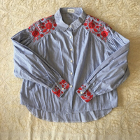 Used Embroidered puffy sleeves shirt in Dubai, UAE