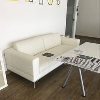 Used Leather White Sofa For Office Or Home I'm A Very Good Condition  in Dubai, UAE
