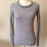 Banana Republic Grey Long Sleeve Sweater. Made Of Italian Wool. Size US XS But Can Fit Small. Worn Few Times. Good Condition. Please Check Out My Profile For More Items.