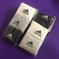 Used 2 Sets of Tri Colors Adidas Socks/43-46 in Dubai, UAE