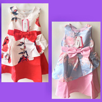 Used Girls A Line Floral Sleeveless Satin  in Dubai, UAE