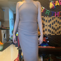 Used Boohoo Nude Fitted Backless Dress UK6/8 in Dubai, UAE